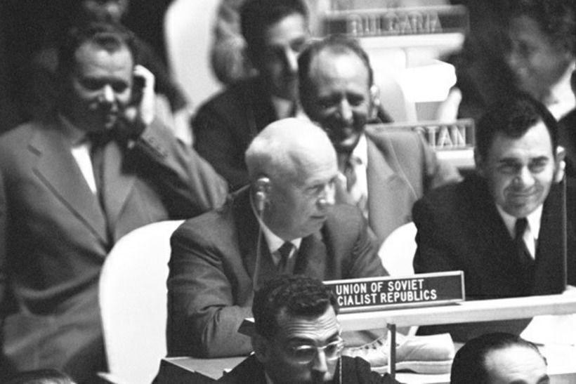 Н. С. Хрущев и ботинок в ООН