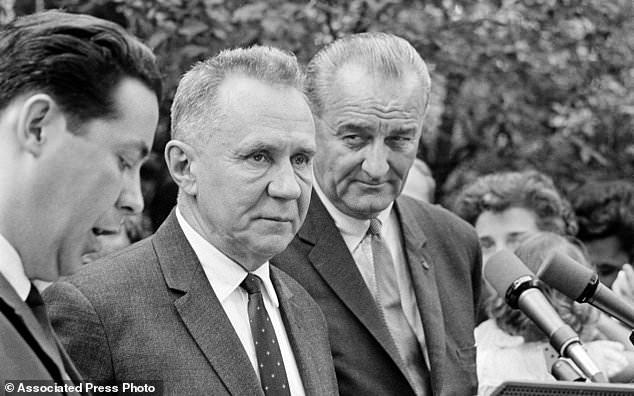 А. Н. Косыгин и Л. Джонсон в Гласборо 23 июня 1967 года
