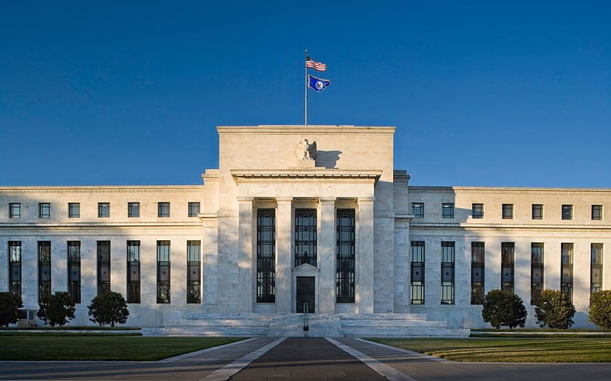 Штаб-квартира ФРС на проспекте Конституции в городе Вашингтоне