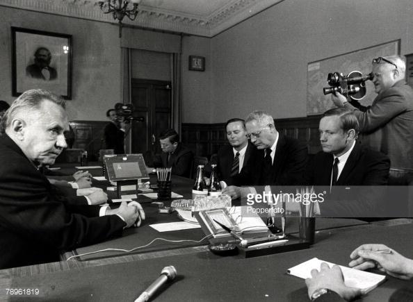 А. Н. Косыгин и Армстронг в Кремле