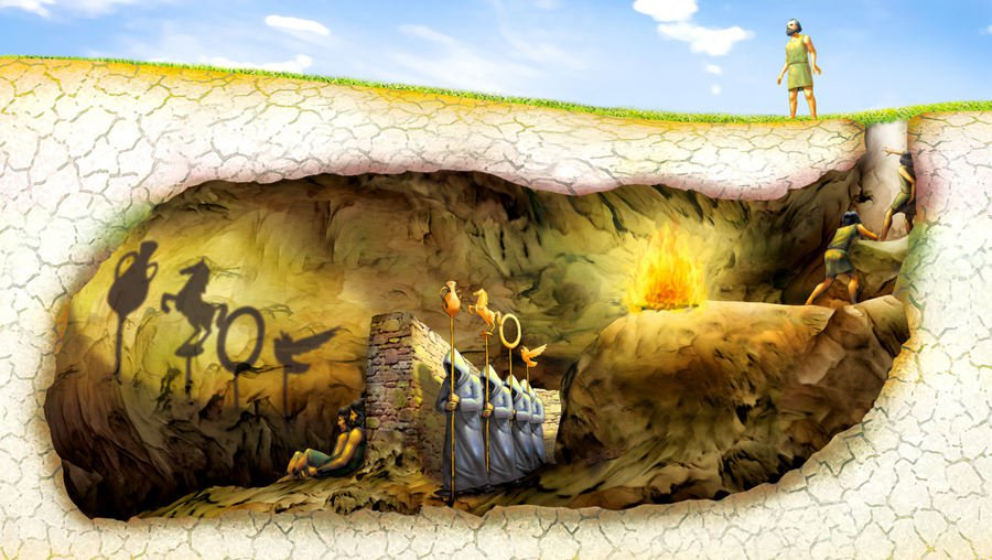 Платонова пещера, классич. вар.